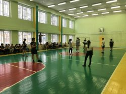 Соревнования по волейболу среди учащихся 8-11 классов